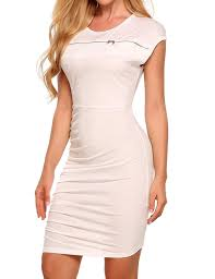 zeagoo women u0027s sleeveless ruched bodycon slim business cocktail