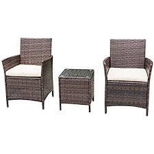 Outside Patio Furniture by Amazon Com Ids Home 3 Piece Compact Outdoor Indoor Garden Patio