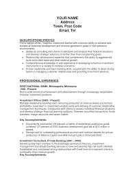 Key Accomplishments Resume Examples by 25 Resume Samples For Investment Banker Position Vinodomia