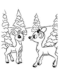 incridible rudolph and clarice coloring page source f from rudolph