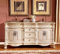 72 Inch Double Sink Bathroom Vanity by Silkroad Exclusive 72 Inch Countertop Marble Stone Double Sink