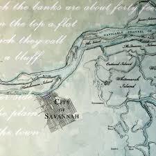 Savannah Map Coastal Landscape Savannah Map No 3 Art Print Watercolor