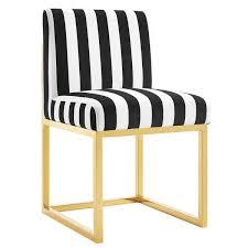 Striped Slipper Chair Maggie Maze Pattern Armless Slipper Chair