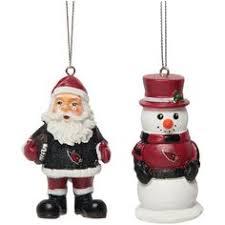 arizona cardinals nick and snowman 2 pack ornament set