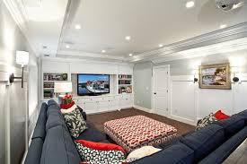 Basement Modern Family Room Salt Lake City By Lisman - Family room in basement