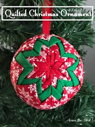 no sew quilted ornament across the boulevard