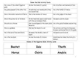 egyptian gods worksheet free worksheets library download and