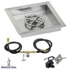 Gas Fire Pit Kit by Square Drop In Fire Pit Kit With Spark Ignition Traditional