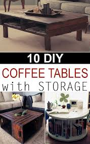 Coffee Table With Storage Creative Diy Coffee Tables With Storage