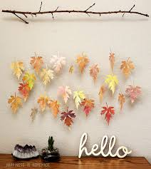 watercolor paper leaf branch mobile happiness is