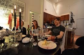 a halloween dinner party