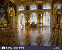 palace interiors catherine palace interiors pushkin st petersburg russia stock