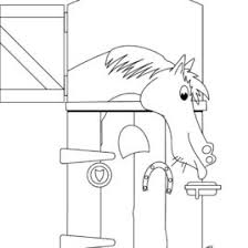 horse coloring pages u2013 horse stable coloring pages horse