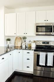 modern farmhouse kitchen cabinets white modern farmhouse kitchen makeover reveal micheala diane