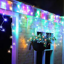 best deal on led icicle lights 720 multi coloured snowing led icicle light