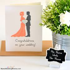 congratulations on your wedding cards on your wedding cards with name
