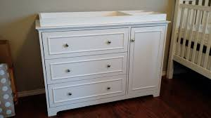 Baby Changing Table And Dresser White Changing Table With Her And Three Baskets In Modern