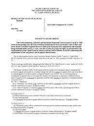 illinois motion to quash arrest traffic search and seizure