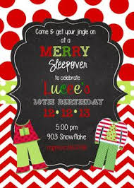 custom christmas party sleepover invitation maddie stuff