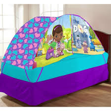 bed tent with light amazon com disney doc mcstuffins bed tent with pushlight toys games