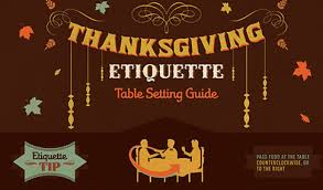 infographic thanksgiving etiquette table setting guide
