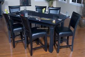 Leather Game Table Chairs Dining Room Inspiring Dining Room Decorating Design With Black