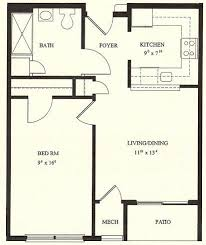 1 bedroom cottage floor plans attractive design 6 floor plans for small houses with 1