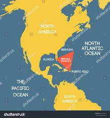 Map Of Bermuda Vector Map Bermuda Triangle Stock Vector 616733012 Shutterstock