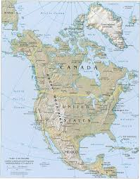 Physical Map Of Central America by North America Physical Map North America Atlas