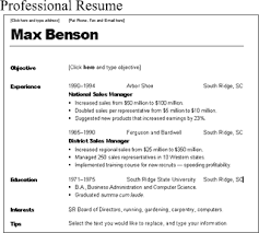 Professional Resume by A Professional Resume Resume Sample