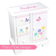 personalized girl jewelry box antique armoire wardrobe closet personalized musical princess