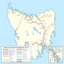 map of tasmania australia tasmanian government railways