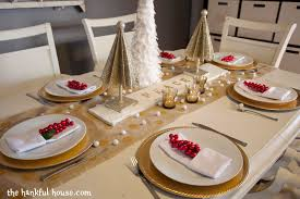 Setting The Table by White And Gold Table Settings Home Design Ideas