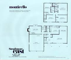 floor plan of monticello side hall plan house house plans