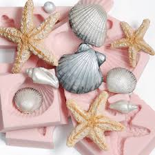 seashell soaps silicone seashell molds set of 7 moulds fondant sea shell