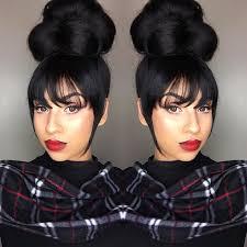 black hair buns 33 best black women high bun hairstyles images on pinterest