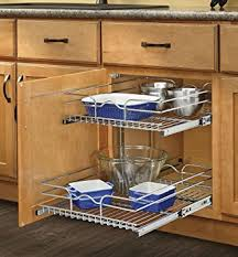 kitchen cabinet slide out amazon com rev a shelf 5wb2 1222 cr 12 in w x 22 in d base