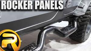 jeep rhino liner lund rhino liner rocker panels youtube