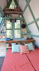 couple builds tiny expandable cabin for 700 in montana living tiny a frame cabin 30