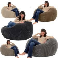 Leather Bean Bag Chairs For Adults Giant Bean Bag Bean Bags Ebay