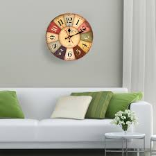 11 8in diameter large wooden wall clock quartz movement decor