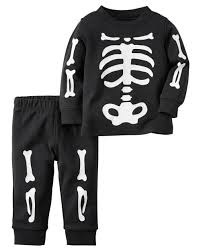 picture of a halloween skeleton 2 piece snug fit cotton halloween pjs carters com