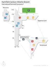 atlanta international airport map atl hartsfield jackson atlanta international airport terminal map