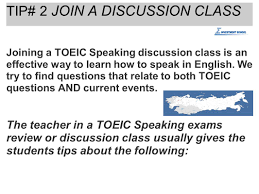 10 strategies to do well in toeic speaking exams by thomas gowing