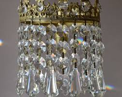 Vintage Crystal Chandelier Parts Mini Vintage Crystal Chandelier Antique French Vintage