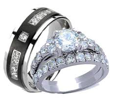 his and hers wedding rings sets his hers wedding ring sets tagged wedding ring set edwin