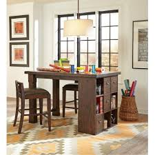 counter height desk chair counter height desk and two chairs pine hill rc willey furniture