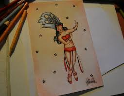 diy pin up tattoo draw 13 steps with pictures