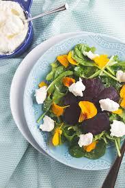 Salad With Edible Flowers - lemon pudding cakes grits u0026 chopsticks