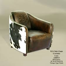 Faux Cowhide Chair Furniture Fascinating Image Of Living Room Furnishing Decoration